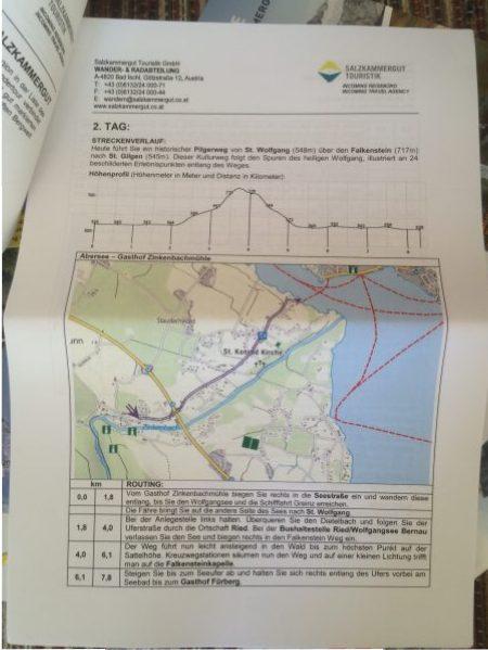 Wanderplan und Routing für Tag 2 in Abersee