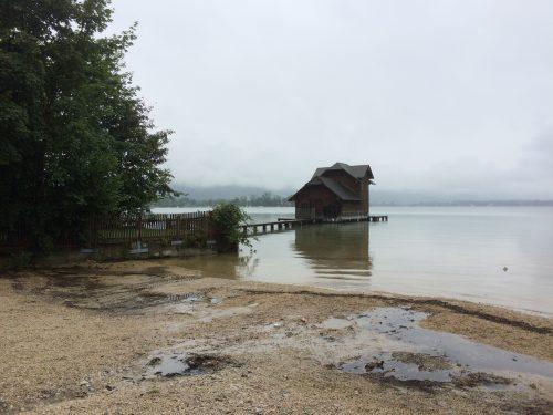 Kurze Pause am Wolfgangsee